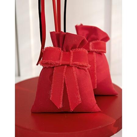 Sacchetto Porta Confetti Rosso